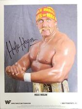 "1989 Autographed WWF Hulk Hogan 8"" X 10"" Color Press Photo by Steve Taylor ++"