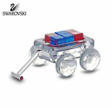 SWAROVSKI CRYSTAL MINI WAGON WITH RED AND BLUE TOY BLOCKS #289647