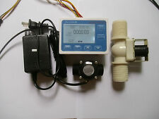 "G3/4"" Water Flow Control LCD Display+Flow Sensor +Solenoid valve +Power Adapter"