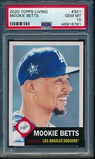 2020 Topps Living Set #301 Mookie Betts PSA 10 Gem Mint Card SP 46916781