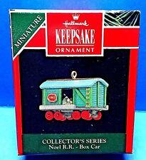 "Hallmark ""Noel Rr Box Car"" Miniature Ornament 1992"