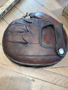 WOW Early Old Antique 1920's Pillow Style Catchers Baseball Glove Mitt VINTAGE