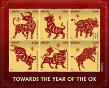 LIBERIA 2020 YEAR OF THE OX 2021 JAHR DES OCHSEN ANNÉE DU BOEUF [#200310a]