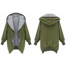 Winter Women Hooded Hoodie Jacket Sweater Coat Long Sleeve Outwear Top Plus Size