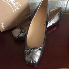 New Christian Louboutin Studded Ballerina Flat Sz 41/11