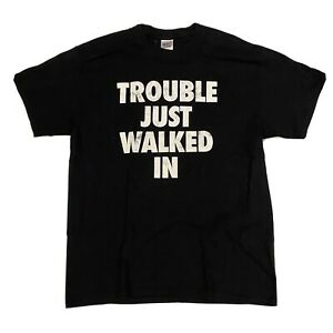 TNA ECIII Ethan Carter III)Trouble Just Walked In Parental Advisory L T-Shirt