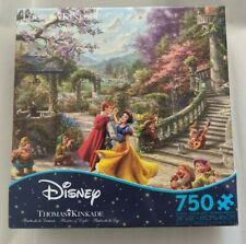 New Thomas Kinkade Disney Puzzle Snow White Dancing in the Sunlight 750 Pieces