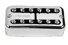 Tv Jones Power'Tron Universal Mount Chrome Bridge Guitar Pickup