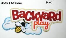 Backyard Play Title boy girl ourdoor scrapbook premade paper piecing by Rhonda