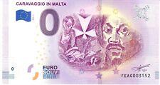 CARAVAGGIO IN MALTA  - SOUVENIR BILJET 0 EURO, Malta - 2019/1-UNC(SB224)