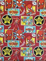 AVENGERS SUPER HERO SPIDERMAN Cotton Fabric 1//4 Yard to 1 YARD OOP /& RARE!