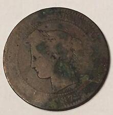10 Centimes Cérès Bronze 1872A N4