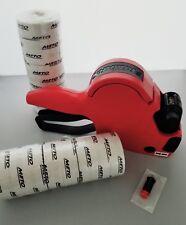 Meto Price Label Gun Model P14 1 Line6 Digit Box White Labels Ink Roller