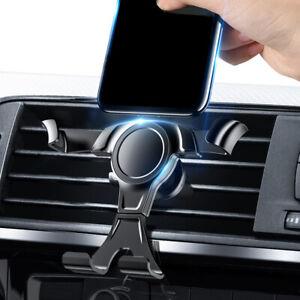 Black Universal Gravity Car Bracket Smart Cell Phone Holder Air Vent Navi Mount