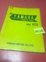 Yamaha 125 AT2 J 1971 1er édition , liste catalogue pièces détachées 125AT2J