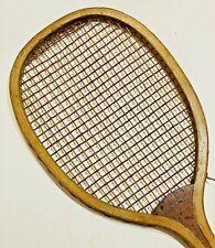 "A.G. Spalding Bros ""Greenwood"" Antique Tennis Racquet – c1905 – Red Gut Strings"