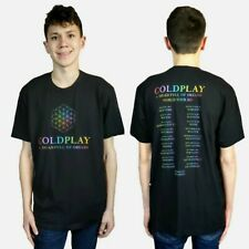 Black COLDPLAY A Head Full of Dreams 2017 World Tour Concert T-Shirt NWOT Large