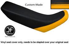 YELLOW & BLACK VINYL CUSTOM FITS HONDA XR 250 400 96-04 SEAT COVER ONLY