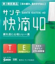 Santen Eye Drops lotion Vitamins kaiteki40 15 mL Blood circulation promotion