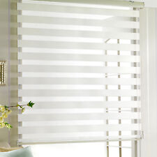 WoodLook dual zebra Roller Blind  shade Vertical treatment  valcony Window door