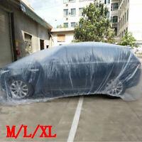 Plastic Transparent Car Cover Dustproof Waterproof Body Protector Waterproof 1pc