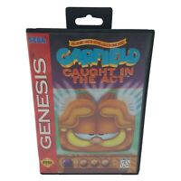 Garfield Caught in the Act (Sega Genesis) Complete In Box CIB, Authentic, Tested