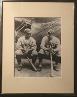 MLB Lou Gehrig, Babe Ruth 1930 NY Yankees Stadium Framed Photo Picture #2164