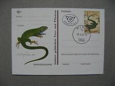 AUSTRIA, privat ill. PC FDC CTO 1993 reptile lizzard