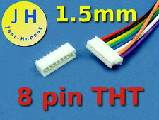 KIT BUCHSE +STECKER 8 polig/pins 1.5mm  HEADER + Male Connector PCB #A263
