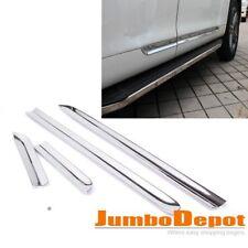 US For Toyota Highlander 2008 2009 2010 Chrome Body Door Sill Side Molding Trim