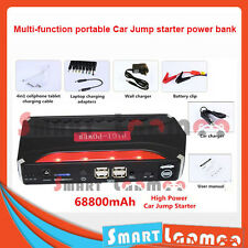 Portable Emergency 68800mAh Car Jump Starter 4 USB Power Bank Vehicle Charger