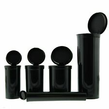 Set of  5 Squeeze Top Pop Top Tube RX Pill Box Container Air Tight Multi Size