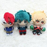 Anime Boku My no Hero Academia Shoto Todoroki Izuku Soft Plush Doll 15cm Toy