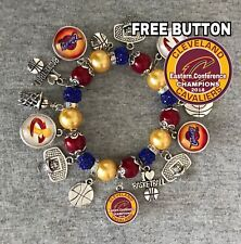 NBA Eastern Conference Champions Cleveland Cavaliers Bracelet Free Button