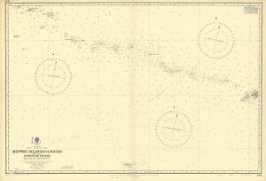 Hawaiian–Emperor seamount chain Midway-Kauai ADMIRALTY chart 1950 (1955) map