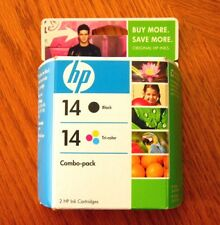 HP 14 Printer Ink Combo Black and Tri-Color, New Sealed, Exp Feb 2009