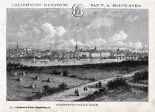 Frankfurt / Oder, Gesamtansicht. Holzstich um 1885, Malte-Brun