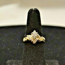 10k y/g Ring w/Diamonds. Size 7.25