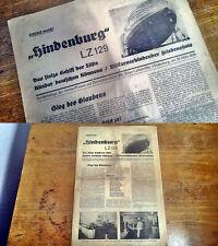 1936 VERBO Presse Friedrichshafen FN Zeppelin LZ129 Deutschlandfahrt Hindenburg