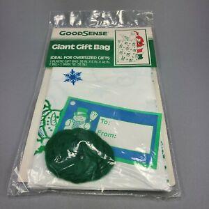 GoodSense Oversized Giant Gift Bag Green Snowman 36 x 48