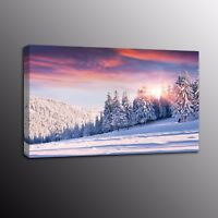 Landscape Modern Canvas Prints Poster Snow Wall Painting Picture Art Home Decor