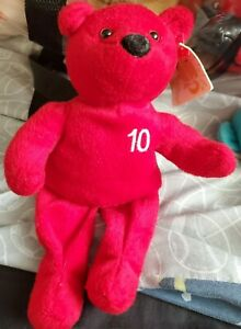 NutriSystem 10 Lb Weight Loss Achievement Plush Bear Red with Tags