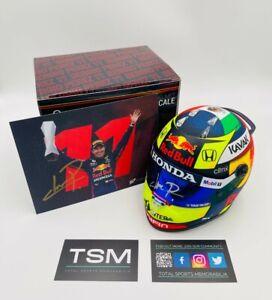 "Sergio ""Checo"" Perez signed F1 1/2 Scale Helmet 2021 - Red Bull Racing F1"