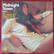 MIDNIGHT SLOWS   LP ORIG FR   MILT BUCKNER   ARNETT COBB  CANDY JOHNSON