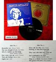 LP Greta Keller w/ Harry Jacobson, Piano (London ffrr 5926) US