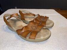 Womens SAS Tripad Comfort Tan Leather Slingback Sandals Shoe  8M