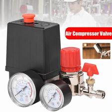 90 120psi Air Compressor Pressure Switch Control Valve Manifold Regulator Gauge