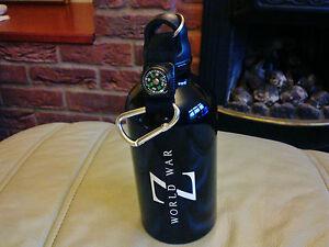 Survival Kit World War Z Metal Flask Bottle with Compass