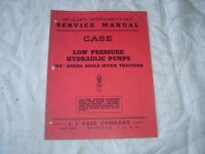 Case VA eagle hitch tractor low pressure hydraulic pumps service manual