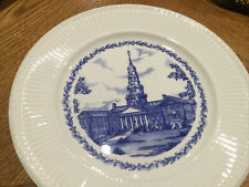 Colby College Collector Plates Miller Library First Edition Wedgwood